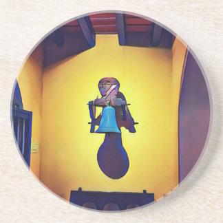 Porta-copos De Arenito Bell montada artística ingénua da igreja