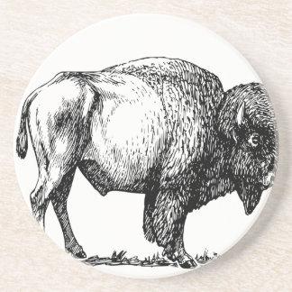 Porta-copos De Arenito Bisonte americano do búfalo