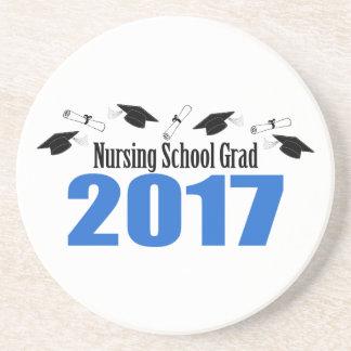 Porta-copos De Arenito Bonés e diplomas do formando 2017 da escola de