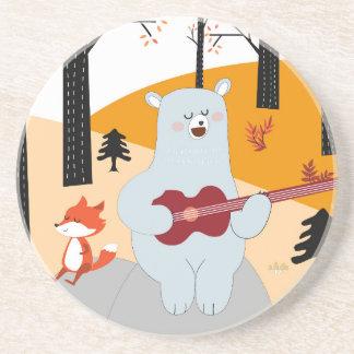 Porta-copos De Arenito Bonito cante um lobo da raposa da canção do verão