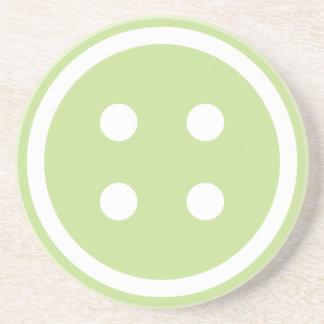 Porta-copos De Arenito Botão Sewing verde bonito