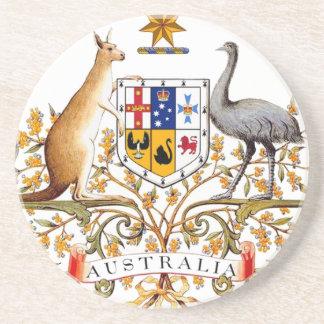 Porta-copos De Arenito Brasão de Austrália