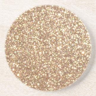Porta-copos De Arenito Brilho metálico do ouro cor-de-rosa do cobre