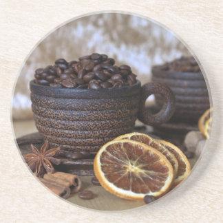 Porta-copos De Arenito Café e especiarias