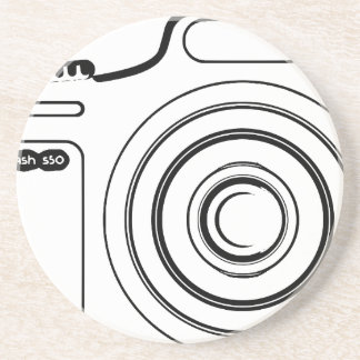 Porta-copos De Arenito Câmera preto e branco