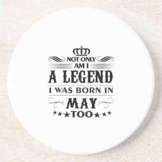 Porta-copos De Arenito Camiseta das legendas do mês de maio