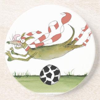 Porta-copos De Arenito cão do futebol dos vermelhos