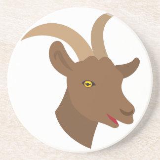 Porta-copos De Arenito cara bonito masculina da cabra