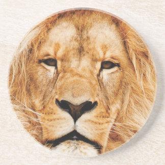 Porta-copos De Arenito cara do leão yeah