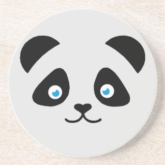 Porta-copos De Arenito cara do urso de panda
