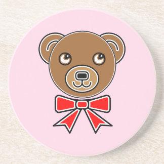 Porta-copos De Arenito Cara engraçada do urso