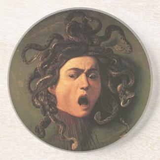 Porta-copos De Arenito Caravaggio - Medusa - trabalhos de arte italianos