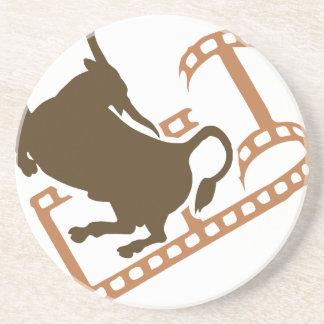 Porta-copos De Arenito Carretel de filme Bucking de Bull
