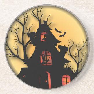 Porta-copos De Arenito Casa assombrada | o Dia das Bruxas