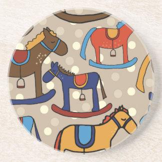 Porta-copos De Arenito cavalos de balanço