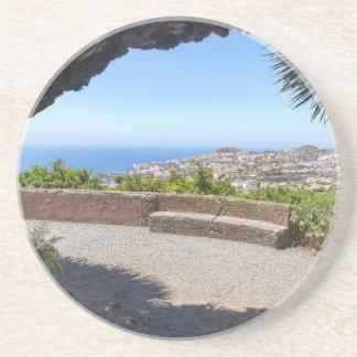 Porta-copos De Arenito Cave a probabilidade no mar e na vila em Madeira