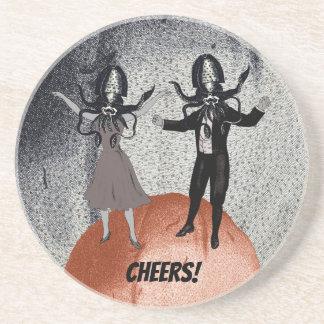 Porta-copos De Arenito Celebração da dança dos aliens