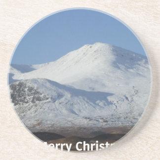 Porta-copos De Arenito cena do inverno do Natal