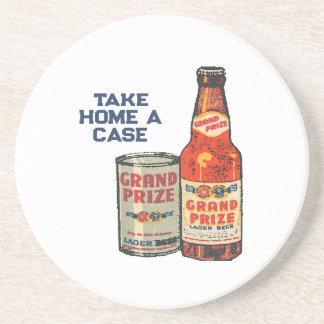 Porta-copos De Arenito Cerveja de cerveja pilsen premiada grande neta um