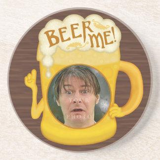 Porta-copos De Arenito Cerveja engraçada mim foto personalizada   do
