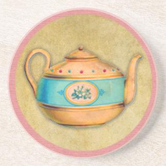 Porta-copos De Arenito Chaleira de chá inglesa
