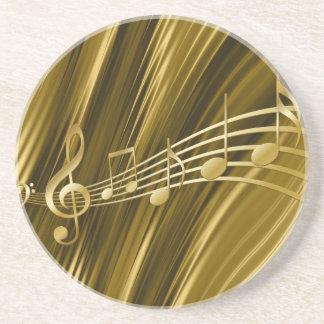 Porta-copos De Arenito Chave dourada do violino