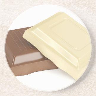 Porta-copos De Arenito Chocolate branco e marrom