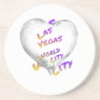 Porta-copos De Arenito Cidade do mundo de Las Vegas, coração