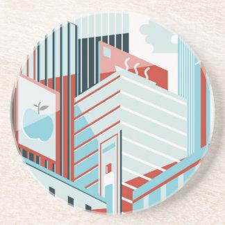 Porta-copos De Arenito Cidade moderna