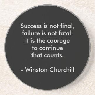 Porta-copos De Arenito Citações de Winston Churchill; Sucesso