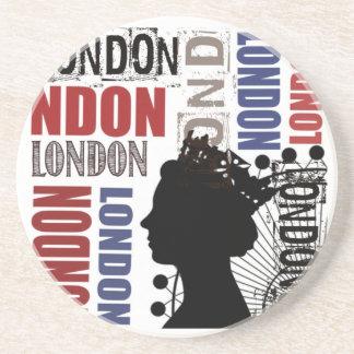 Porta-copos De Arenito Colagem moderna do viagem de Londres
