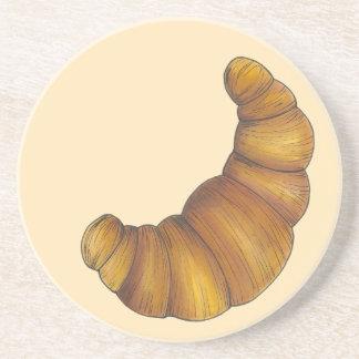 Porta-copos De Arenito Comida dourada flocoso amanteigada da pastelaria