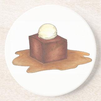 Porta-copos De Arenito Comida inglesa da sobremesa do pudim de caramelo