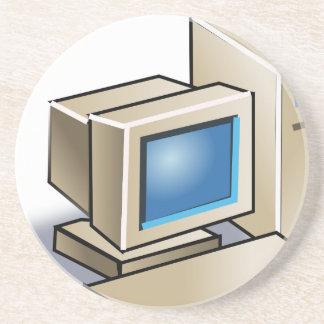 Porta-copos De Arenito Computador retro