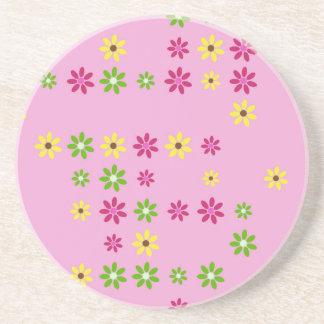 Porta-copos De Arenito Confetes cor-de-rosa da flor