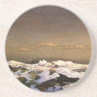 Porta-copos De Arenito Congele em calotes polares de flutuação do mar |