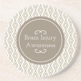 Porta-copos De Arenito Consciência da lesão cerebral do teste padrão do
