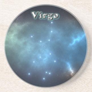 Porta-copos De Arenito Constelação do Virgo