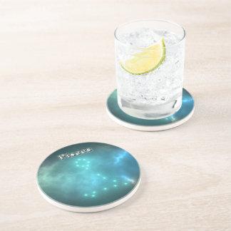 Porta-copos De Arenito Constelação dos peixes