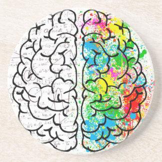 Porta-copos De Arenito corações da ideia da psicologia da mente do