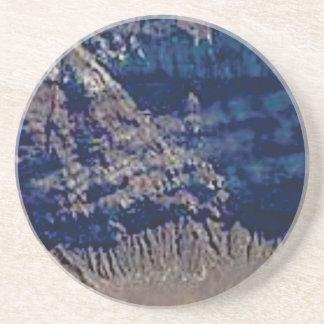 Porta-copos De Arenito cores mergulhadas da rocha