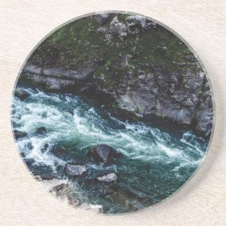 Porta-copos De Arenito córrego de águas esmeraldas