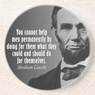 Porta-copos De Arenito Cotação de Abe Lincoln em direitos
