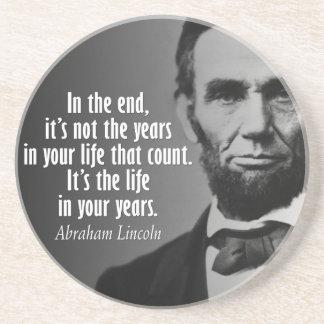 Porta-copos De Arenito Cotação de Abe Lincoln na vida