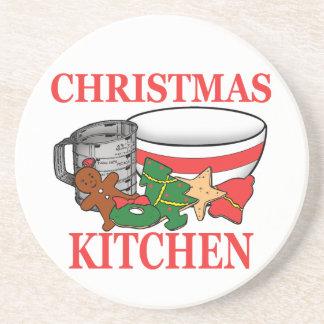 Porta-copos De Arenito cozinha do Natal