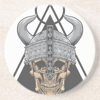 Porta-copos De Arenito Crânio de Viking
