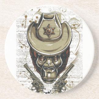 Porta-copos De Arenito crânio do vaqueiro do macaco com armas gêmeas