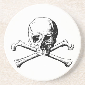 Porta-copos De Arenito Crânio dos Crossbones