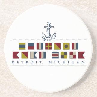 Porta-copos De Arenito Cumprimentos de Detroit