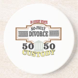 Porta-copos De Arenito custódia 50 50 no casamento